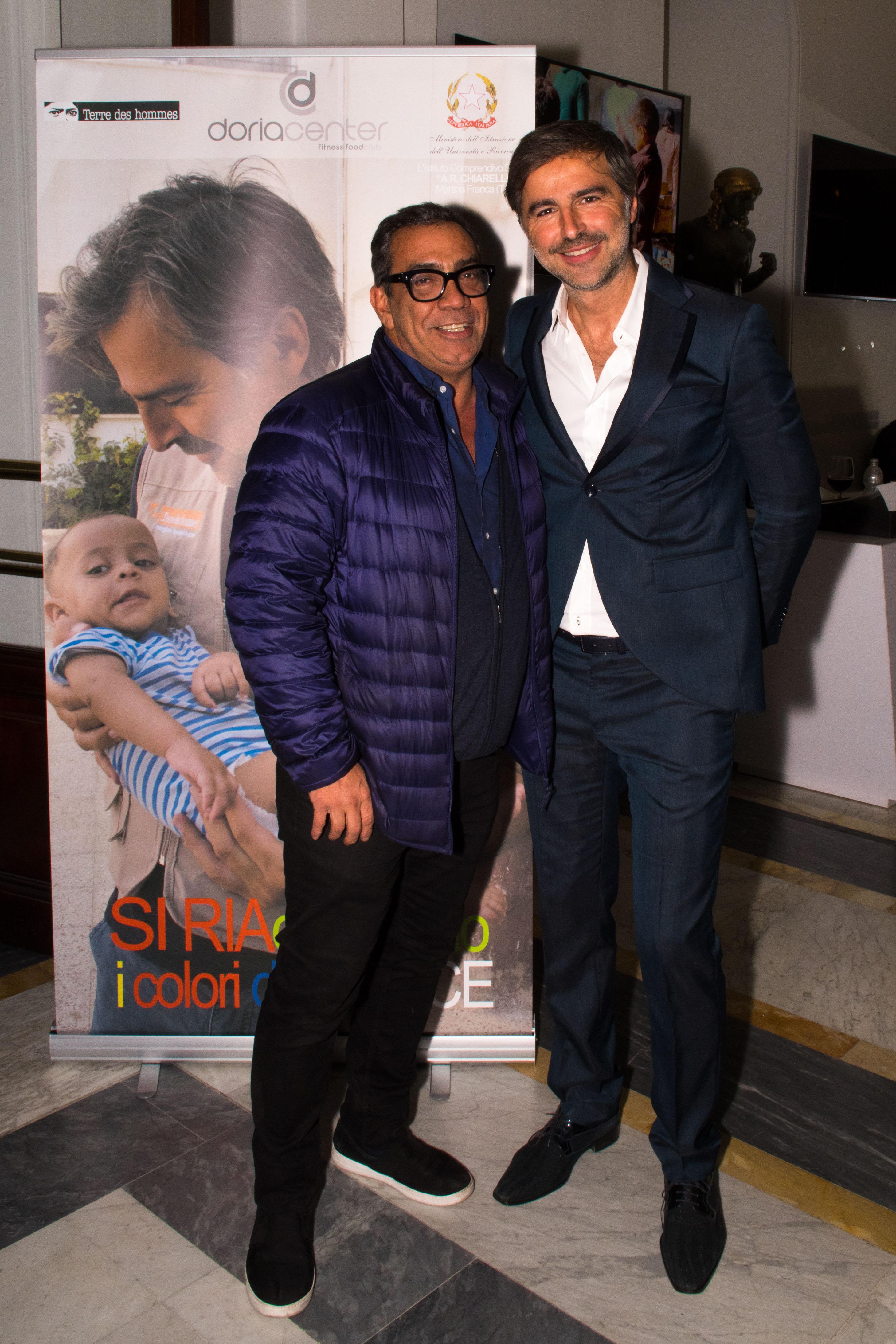 Beppe Convertini con Guillermo Mariotto