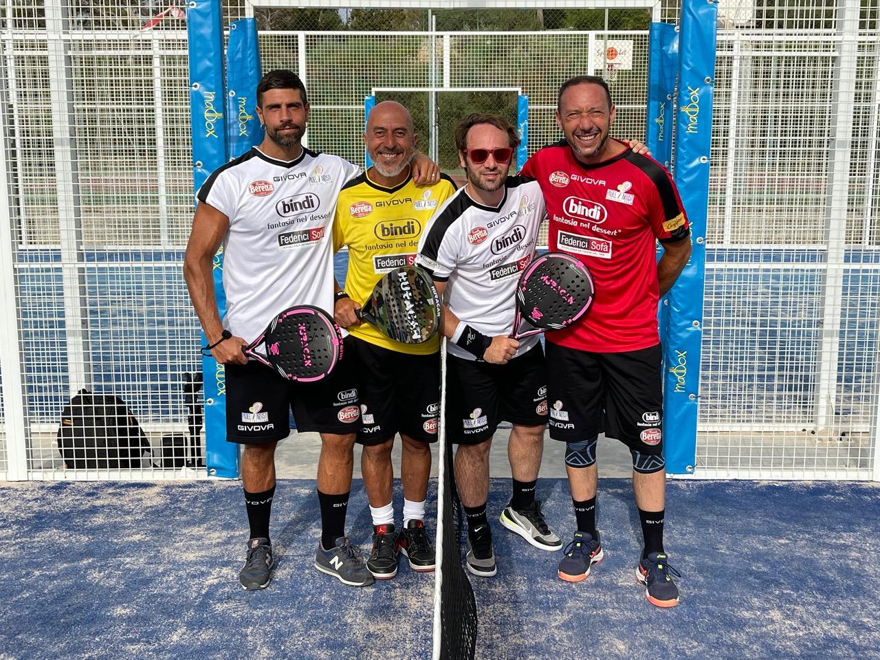 Gilles Rocca, Roberto Ciufoli, Ludovico Fremont ed Emiliano Ragno